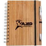 竹製環保筆記簿連筆