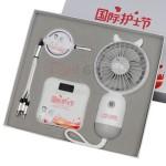 商務禮品套裝(充電線+移動電源+風扇)