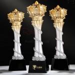 皇冠樹脂水晶獎座