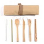 環保袋竹製餐具套裝